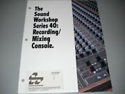 Sound Workshop Series 40 Mixing Console Brochure Manual