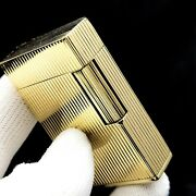 St Dupont - 18k Yellow Gold - 1974 - Vintage - Gas - Lighter - Box And Papers - Bs
