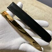 Authentic Unique Item Vintage Paper Knife Bookmark Italy 24k Plated