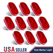 10x Red Led Light Clearance Camper Trailer Truck Rv 4x2side Marker 6 Diodes