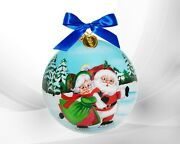 Li Bien 2021 Authentic Christmas Is Better Together Hand Painted On Inside Glass