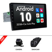 Cam+dvr+single Din 9 Touch Screen Android 10 Car Stereo Radio Gps Wifi Bt 1080p