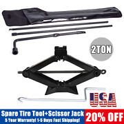 Spare Tire Lug Nut Wrench Tool Kit For Ford F250 350 Super Duty +2t Scissor Jack