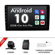 Obd+cam+carplay+single 1 Din 10.1 Stereo Car Radio Android 10 Touch Screen Gps