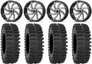 Msa Machined Switch 22 Wheels 37 Xt400 Tires Can-am Renegade Outlander