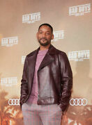 Will Smith Bad Boys For Life Premiere Brando Maroon Leather Jacket