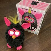 2012 Hasbro - Electronic Furby - Punky Pink Black Yellow Edition With Box
