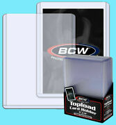 100 Bcw 108pt Toploaders For Thick Cards 3x4x2.75 Top Loader New Factory Sealed