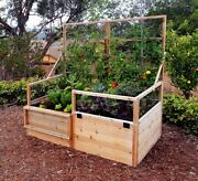 Outdoor Living Today Garden In A Box With Trellis/lid - 6 Ft. X 3 Ft.