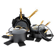 Thyme And Table Non-stick 12 Piece Gold Pots And Pans Cookware Set