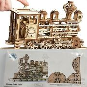 New / Sealed - Walter E. Disney Train Wood Model Puzzle By Ugears Msrp 79.99