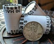 Unsearched Half Dollar Kennedy Bank Roll + One 90 Silver Walking Liberty Coin