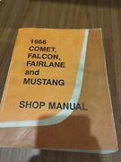 1966 Ford Mustang Factory Original Service Shop Manual With Wiring Diagrams