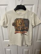 Jumanji Tiger Murina Made In Usa Vintage Off White T-shirt Size Large Youth