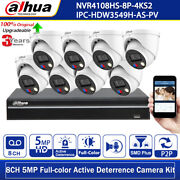 Dahua 8ch 5mp Active Deterrence Ipc-hdw3549h-as-pv Mic Speaker Full-color Kit