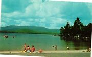 Vintage Postcard - Swimming And Boat Silver Lake Andover Maine Me Unposted 2488