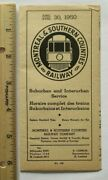 1950 Montreal And Southern Counties Railway Map Trolley Timetable Canada Streetcar