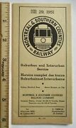 1951 Montreal And Southern Counties Railway Map Trolley Timetable Canada Streetcar