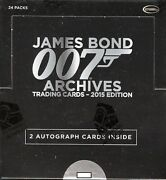 Factory Sealed Box Of 2015 James Bond Archives Trading Cards - From Rittenhouse