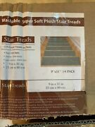 Ottomanson Stair Tread Softy Grey 9 X 31 Rubber Back 14 Per Pack