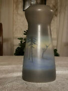 Rookwood Pottery 9.75 Fr Scenic Vellum Green Brown Landscape Arts And Crafts