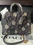 Coach 1941 Tea Rose Rogue 30 With Snakeskin Black Nwt 1500
