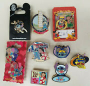 Disney Lilo And Stitch Mixed Collection First Release, Limited Edition 9 Pins Lot
