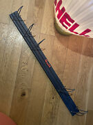 Gulf Gas Oil Sign Vintage Display Rack Store Service Station Can Hook Hose Wire