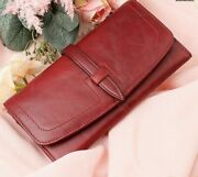 Women's Long Clutch Wallets High Quality Coin Purse Genuine Leather Solid Wallet