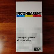 Incohearent Incoherent Adult Party Game - From Makers Of What Do You Meme