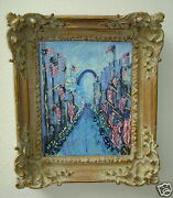 Vintage Perry A. Coyle Original Impressionist Painting 4th Of July St Louis Mo