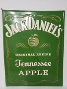 Jack Daniels Sign Rare Tennessee Apple 2019 Green Whiskey Bar Mancave Advertise