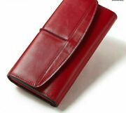 Women's Phone Pocket Wallets Fashionable Long Clutch Coin Purse Solid Wallet New