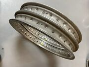 New Pair Akront Flanged Alloy Rims 17andrdquo 36 Holes Nos