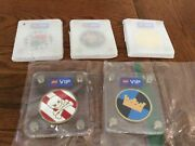 5 New Lego Vip Collector Collectible Coins Gold, Pirate, Castle, Space, Octan
