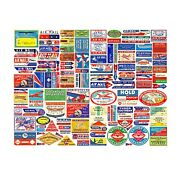 Air Mail Label Stickers, 4 Sheets, Reproduction, 110 Airline And Airmail Labels