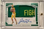 Justin Herbert Rpa National Treasures 1/5 204 Unique Rare Fight Patch