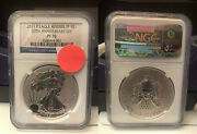 2011 P Reverse Proof American Silver Eagle 25th Anniversary Set Ngc Pf 70