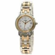 Hermes Clipper Nacre Watches Cl4.221 Stainless Steel/ssxgp Ladies