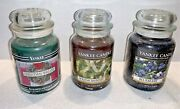 Yankee Candle Co Holiday Bayberry Christmas Wreath And Blueberry 22 Oz Jar Candles