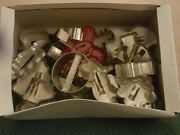 Lot Of 34 Vintage Plastic And Metal Assorted Holiday Cookie Cutters