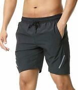 Surenow Menand039s 7 Workout Athletic Running Shorts For Training Jogging And Sport