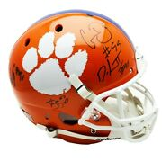 Clemson Tigers Wilkins Lawrence Ferrell And Austin Bryant Signed F/s Rep Helmet