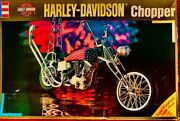 Harley-davidson Chopper 1/8 Scale Official Plastic Model Hard To Find Rare