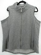 Women's Coldwater Creek Zip Up Size 1x Plus Vest Sleeveless Gray Quilted Cl-28