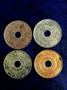 Lot Coins Palestine 20 Mils 1927 1935 1942 And 1933 Key Date Rare