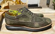 Cole Haan Lunargrand Camo Suede Wingtip Shoes Mens Size 9.5 New Mint In Box