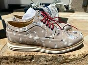 Cole Haan Lunargrand Wingtip Canvas Tan Multi Splatter Shoes Size 10 New In Box