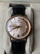 Lucien Piccard Solid 18k Gold Watch Hard To Find Boxed