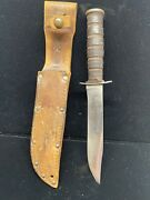 Ww2 Usmc Knife Camillus, Excellent 1952 If A Story Can Be Told With This Piece
